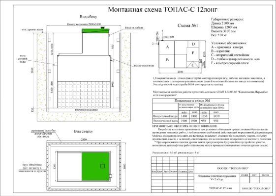 Монтажная схема ТОПАС 12 лонг